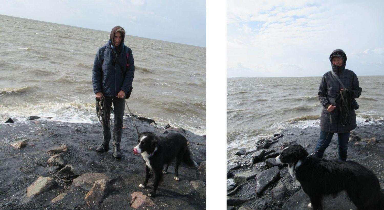 Richtige Kleidung für den Spaziergang am Meer an der Nordsee