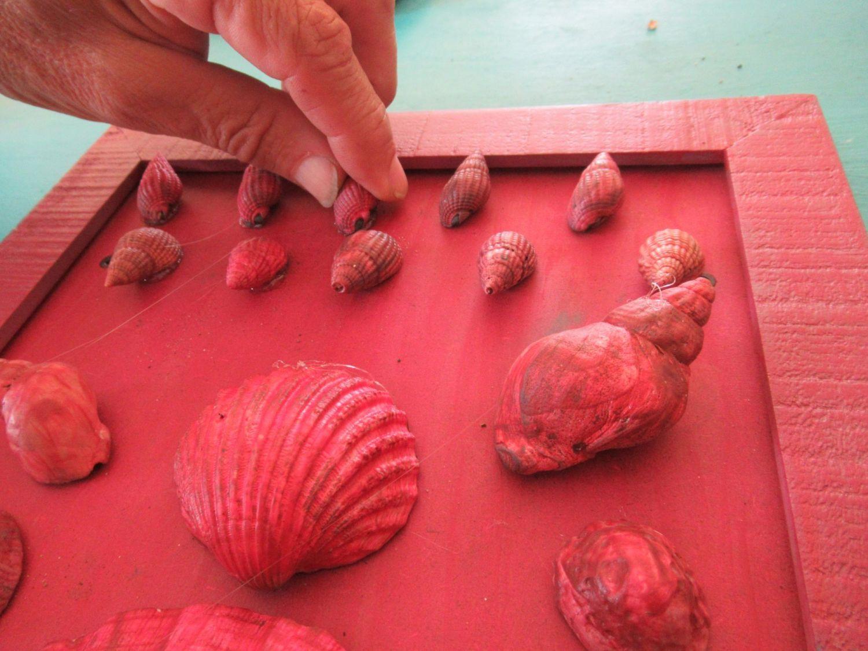 Muscheln aufkleben für hübsche Muschelbilder