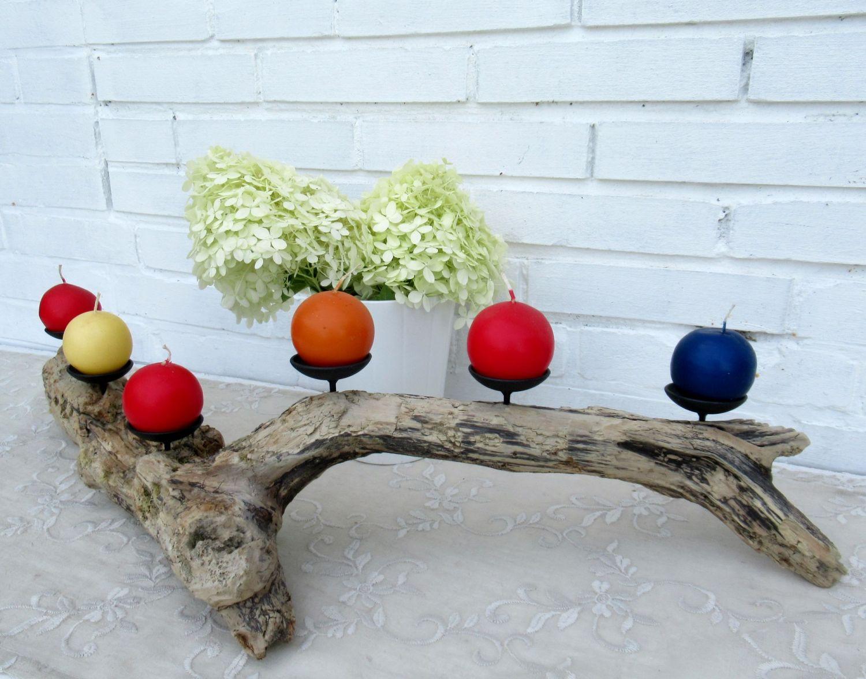Treibholz als Kerzenständer, eine hübsche Wohnidee
