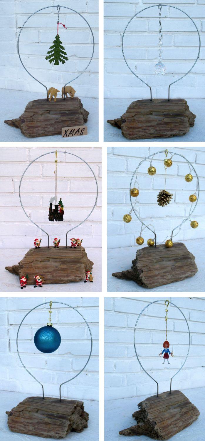 Dekorationsideen für Advent und Weihnachten mit Treibholz