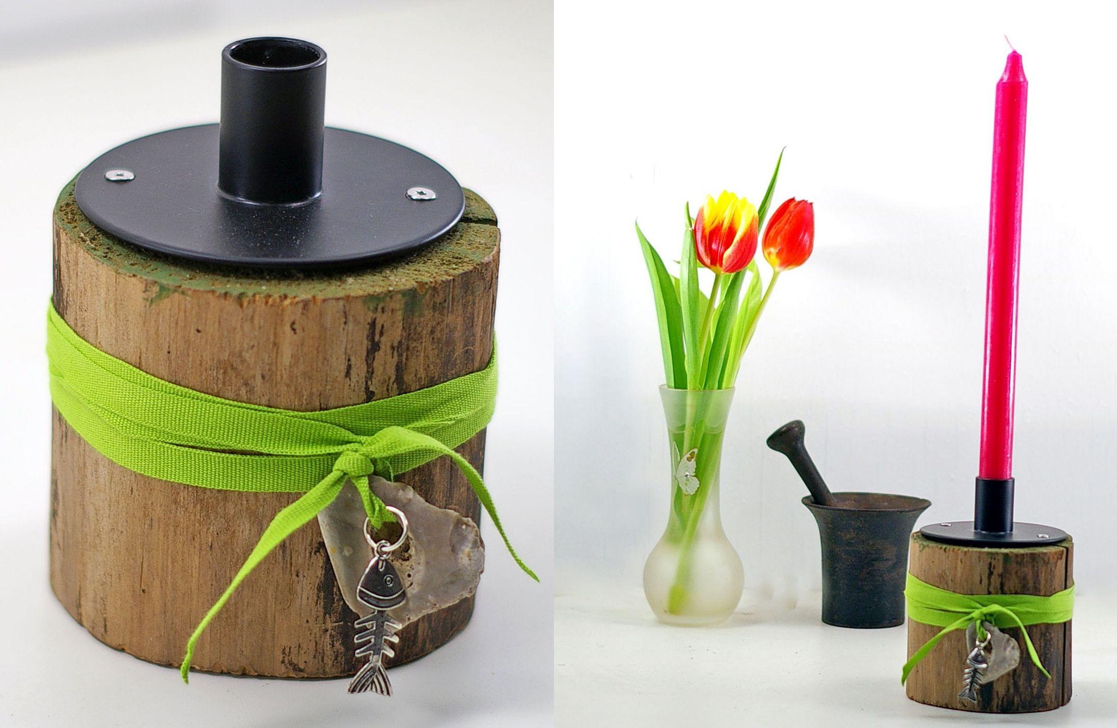 Upcycling: alte Materialien neu gestalten, zum Beispiel Kerzenhalter mit eigener Note basteln
