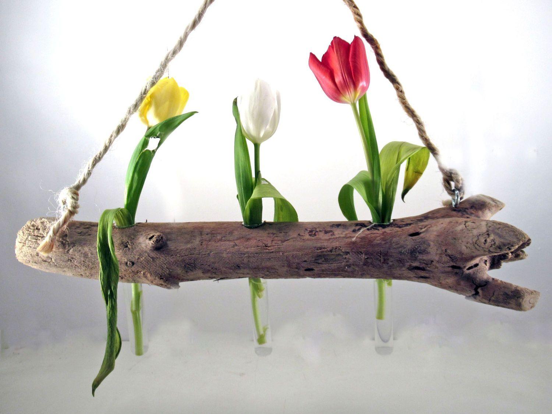 Aus Treibholz eine Vase zum Aufhängen basteln, Ideen und Inspirationen