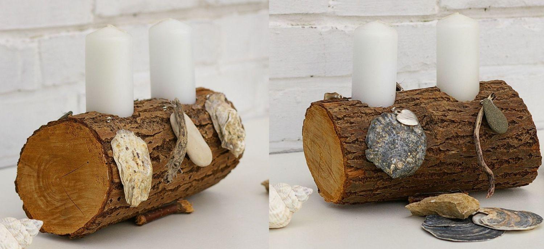 maritime Kerzenständer mit Muscheln selbermachen