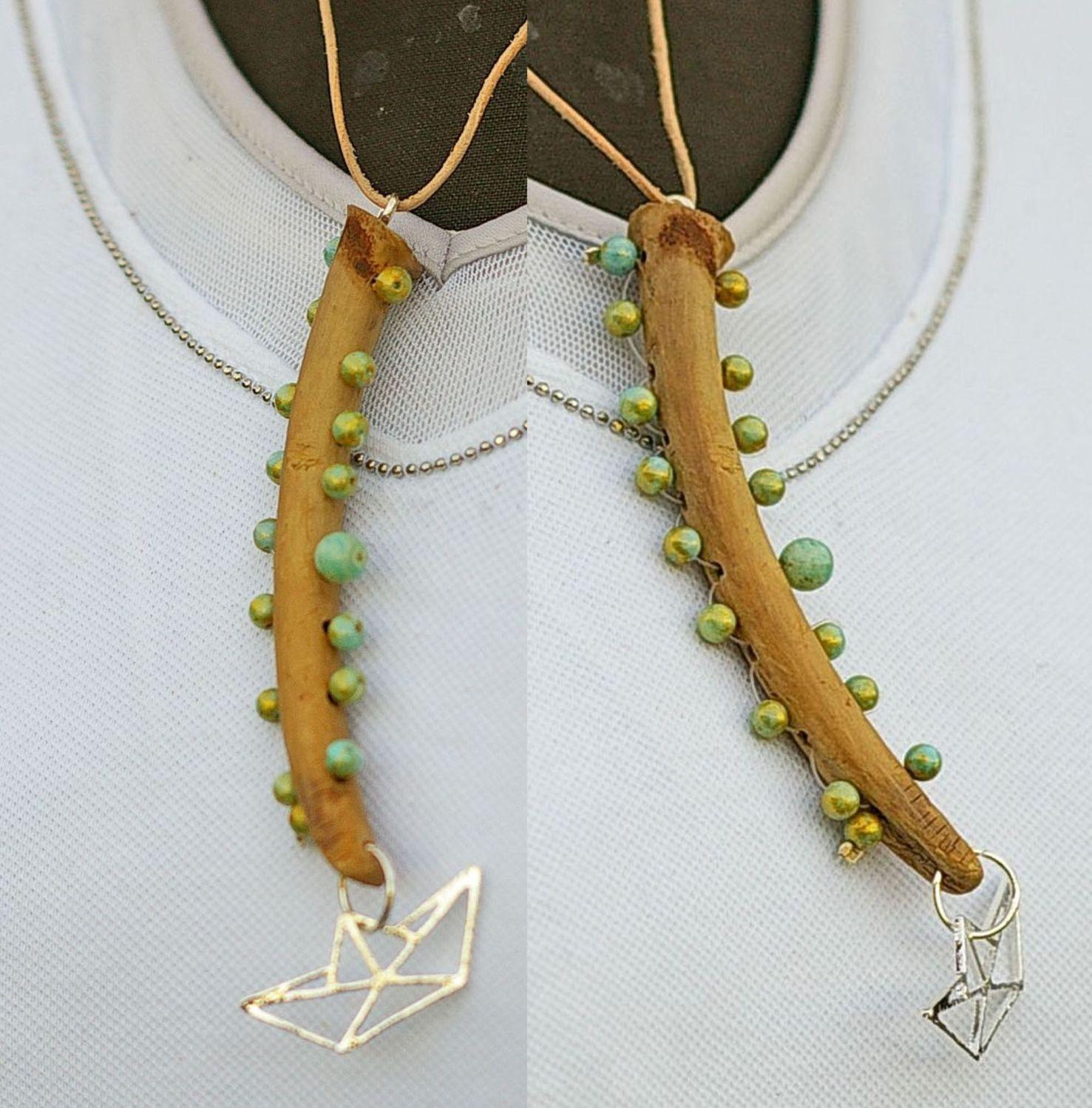 diy kettenanhänger aus treibholz, diy  driftwood jewellery