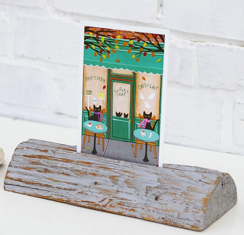 Staender aus Treibholz für Postkarten zum Selbermachen