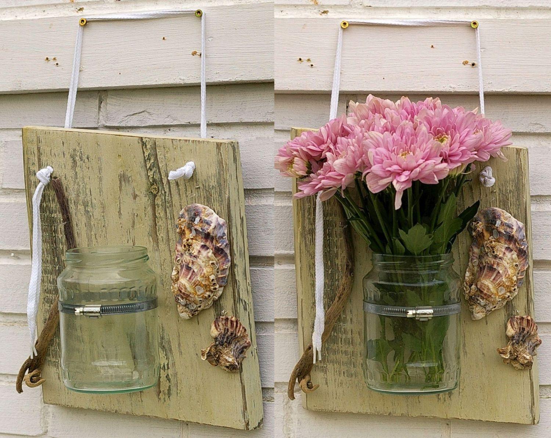 nachhaltige Vase als martime Gartendekoration