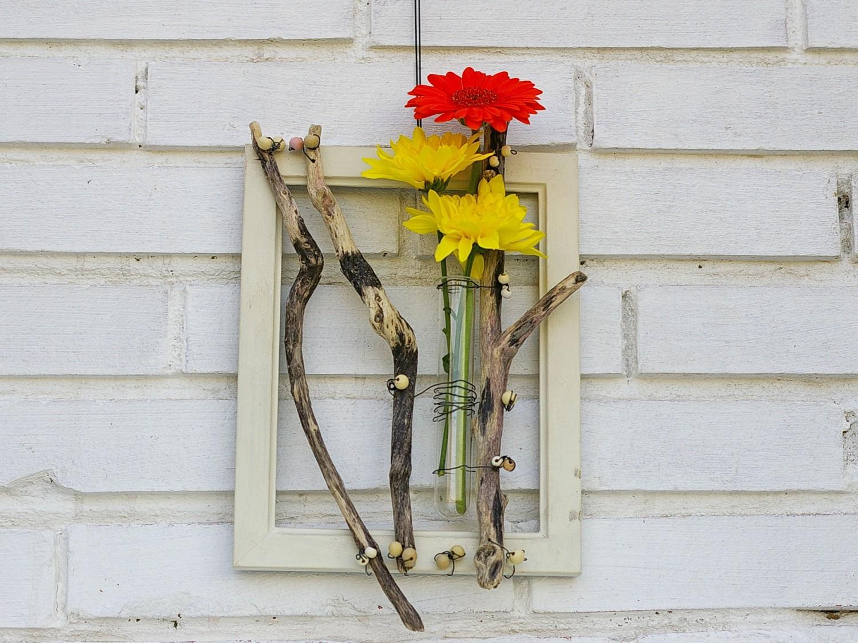 Wandvase mit Treibholz zum Selbermachen