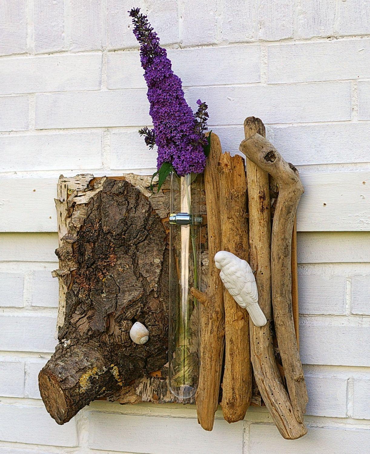 Natürliche Blumendekoration für die Wand zum Selbermachen